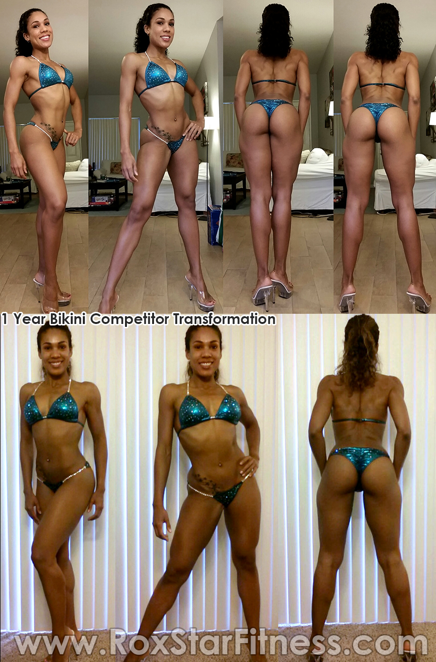 Client Transformation In Progress Npc Bikini Competitor Connie Braaten 2 Weeks Out From 2014
