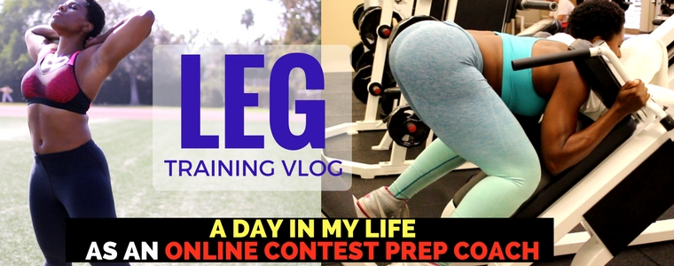 (Video) Wk 4: Leg Training, Track Running, & My Life as an Online Contest Prep Coach - Part 1