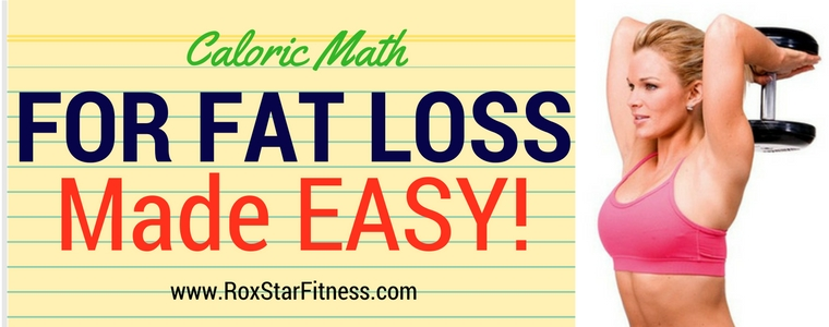 Caloric Math For Fat Loss Made Easy! (Infographic)